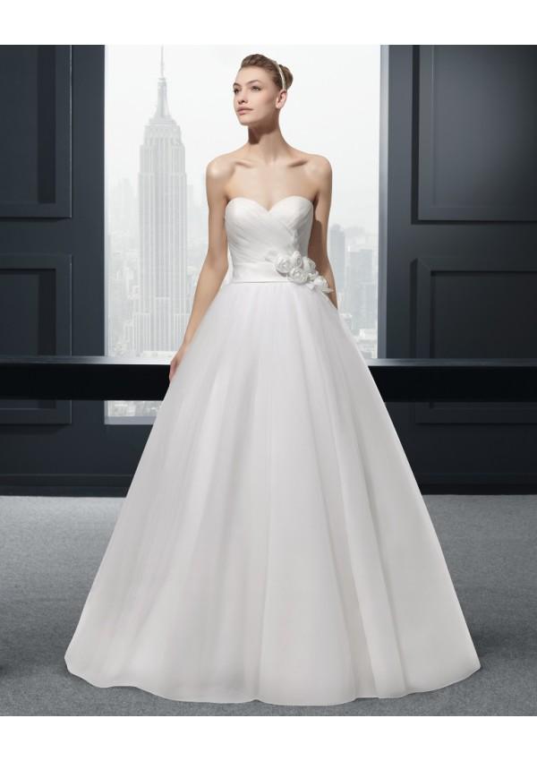 robe de mariée dalbera 599 robe très simple en organza bustier ...